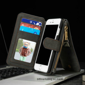 Genuine Multifunctional Leather Wallet Cell Phone Case for iPhone pictures & photos