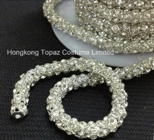 Imitation Crystal Bead Items Shiny Glitter Anti-Corn Crystal Claw Chain (TCS-6mm silver) pictures & photos