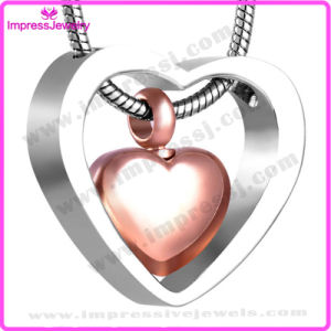 Duble Heart Stainless Steel Women′s Necklace Memory Pendant Necklace (IJD8078) pictures & photos