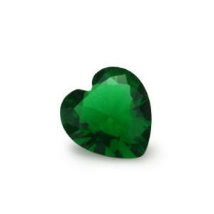 Sythetic Gem Jewellery Beads Cheap Heart Shape Green Emerald Glass pictures & photos