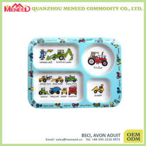 School Canteen Use Food Safety Melamine Food Tray pictures & photos