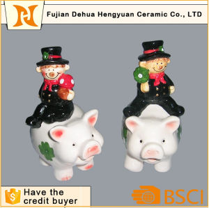 Ceramic Chimney People Figurine with Pig design Handmade Craft pictures & photos