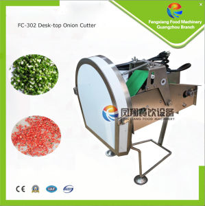 FC-302 Desk-Top Paper Cutter, Leek/Celery/Chilli Cutting Machine, Vegetable Stuff Cutter pictures & photos