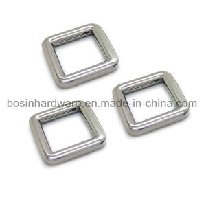 Silver Alloy Metal Square Ring Buckle for Handbags pictures & photos