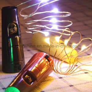 Bottle Cork String Lights Silver Wire Starry Light Battery Powered Lights for Christmas Bottle DIY Party Decoration pictures & photos
