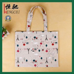 Natural Color Cotton Printed Advertising Shopping Canvas Bag pictures & photos