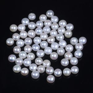 Wholesale 7.5-8mm Button Shape Pearl for Earring, Ring pictures & photos