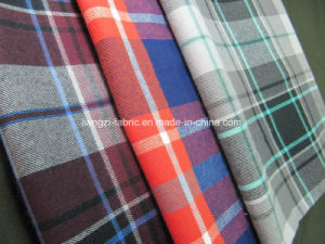 Cotton Yarn Dyed Flannel Fabric with Stretch pictures & photos