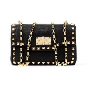 Women Messenger Bags Genuine Leather Shoulder Handbag Golden Metal Chain Emg4769 pictures & photos