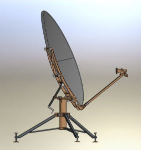 1.8m Carbon Fiber Flyaway Rxtx Antenna pictures & photos