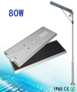 Android / Ios APP Control All in One 80W Solar LED Street Light pictures & photos