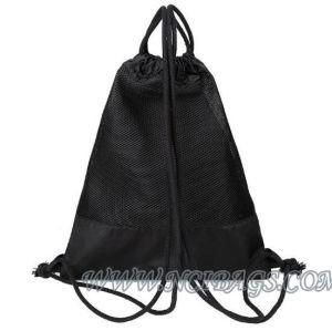 Drawstring Beam Pocket Single Color Customized Canvas Sports Hiking Backpack Bag