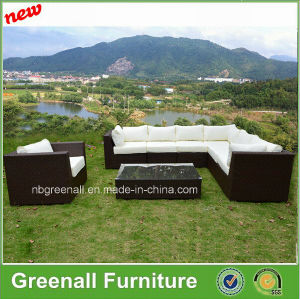 Poly Rattan & Aluminum Furniture, Outdoor Rattan Sofa pictures & photos