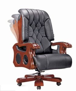High Back Synthetic Leather Wooden Boss Chair (HX-8022) pictures & photos