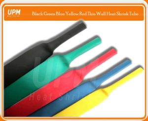 Black Red Blue Green Yellow Thin Wall Heat Shrinkable Tube for Wire Insulation Protection pictures & photos