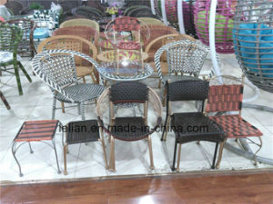 Outdoor Plastic Rattan Wicker Dining Coffee Chair (LL-1901) pictures & photos