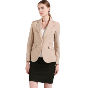 Ladies Casual Dress Slim Fit Made to Measure White Jacket pictures & photos