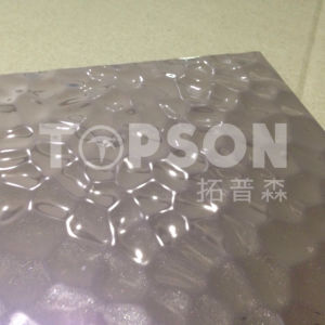 Topson Decorative Stainless Steel Sheet Embossed Linen Color for Home Decor pictures & photos