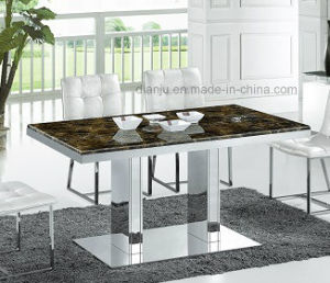 Square Marble Home Furniture Simple Dining Table (A6002)
