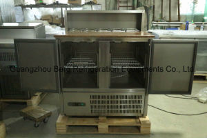 Kitchen Equipment Saladette Refrigerator with Cabinet-PS900 pictures & photos