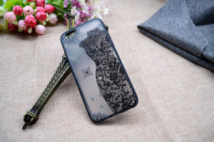 The New for Apple iPhone 7 Retro Lace Clear Plastic Cell Phone Case pictures & photos