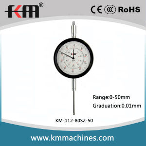 Wide Range 0-50mm Mechanical Dial Indicator with 0.01mm Graduation pictures & photos