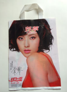 Soft Loop Handle Poly Shopping Bag pictures & photos