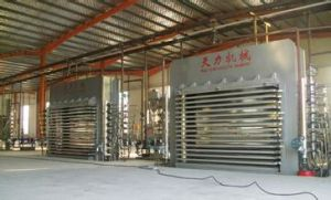 Plywood Hot Press Machine Batch Production