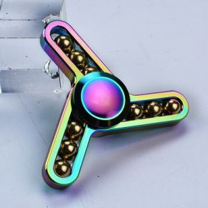 Dazzle Color Nine Bead Zinc Alloy Toy Fidget Hand Spinner pictures & photos