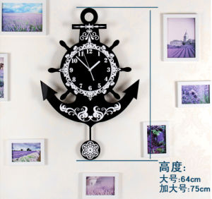 European Style Clock Acrylic Fashion Wall Clock pictures & photos