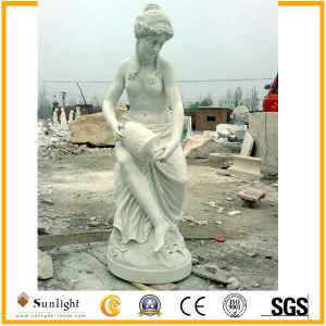 Pure White Marble Women Sculptures Stone Carving Marble Statue pictures & photos