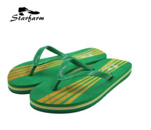 Green PVC Summer Slippers for Promoion pictures & photos