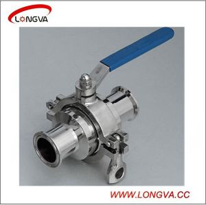 Sanitary Stainless Steel Clamp Non Retention Ball Valve pictures & photos