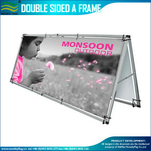 Exhibition Display, Portable Folding Stand, Outdoor Double Sided a Frame Banner (J-NF22M01107) pictures & photos