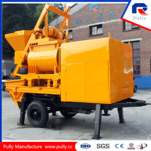 High Efficiency Trailer Concrete Mixer Pump with Forced Mixer pictures & photos