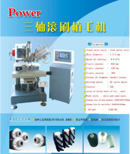 Three Axis High Speed Flat Wire Hair Plangting Machine pictures & photos