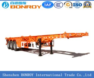 High Quality 40FT 3axle Flatbed Container Semi Trailer pictures & photos