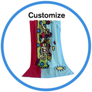 Custom Made Design Your Own Beach Towels pictures & photos