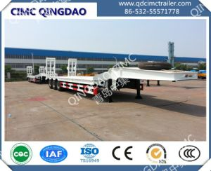 Cimc Tri-Axle Low Bed Semi Trailer Dimensions, Lowbed Truck Semi Trailer Chassis pictures & photos