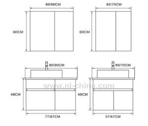 Professional Stainless Steel Bathroom Furniture Bathroom Cabinet Bathroom Vanity pictures & photos