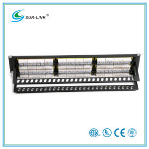 CAT6A 48 Port UTP Patch Panel with Back Bar pictures & photos