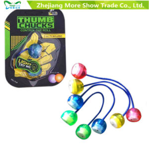 Hot LED Thumb Chucks Fidget Yoyo Luminous Begleri Flashing Finger Toys pictures & photos