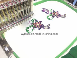 4 Head Wonyo Computerized Cap T-Shirt Flat Industrial Embroidery Machine pictures & photos
