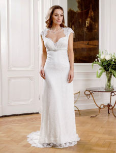 Simple Beauty Satin Sweetheart Wedding Gown Bridal Dress pictures & photos