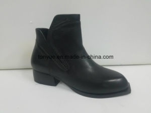Lady Leather Brush Color Restoring Ancient Ways Pointed Short Boots pictures & photos