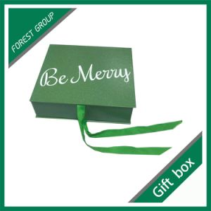Custom Color Luxury Magnetic Gift Box with Ribbon pictures & photos