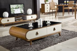 Modern Design Living Room Marble Top Wood Coffee Table pictures & photos