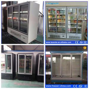 Single-Temperature Style and Air Cooler Type Double Door Upright Freezer pictures & photos