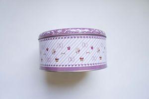 Design Customized Circular Metal Gift Box Decorative Cake Tin Boxes pictures & photos