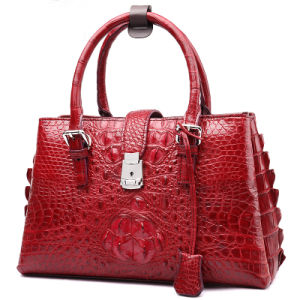 Lady Designer Crocodile Handbag Mk Genuine Leather Fashion Tote Bag pictures & photos